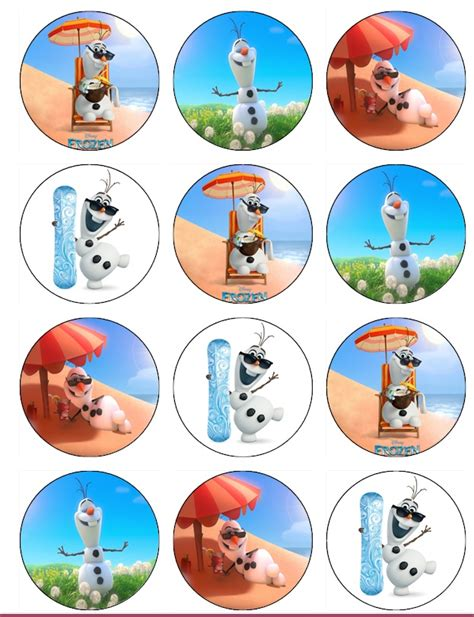 printable olaf bag toppers olaf summer cupcake toppers free printables car interior