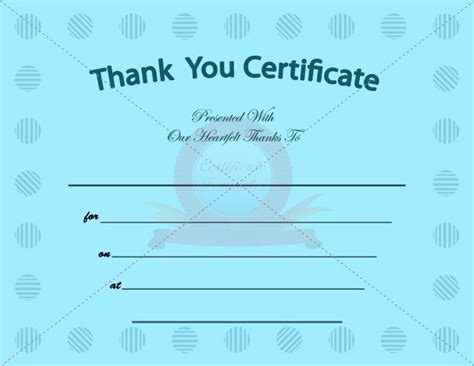 free thank you certificate templates 1000 images about certificate template on