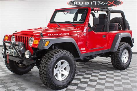 rubicon jeep red 2006 jeep wrangler rubicon tj unlimited red