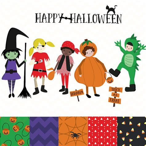 clipart trick or treat pencil and in color