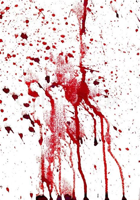 Fn Bloody bloody splashes on white background stock photo colourbox