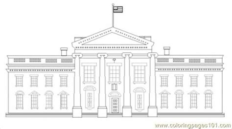 free coloring pages of the white house