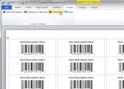 Print A Sheet Of Upc Ean Barcode Labels Upc Label Template