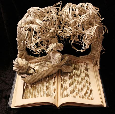 How To Make A Paper Sculpture - paper sculptures depicting wondrous worlds from books
