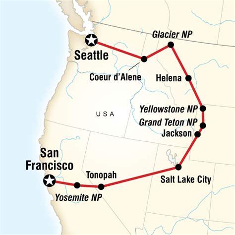 map usa yellowstone cing yosemite yellowstone in united states