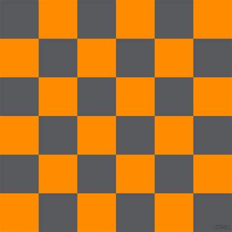 dark orange colors bright grey and dark orange checkers chequered checkered
