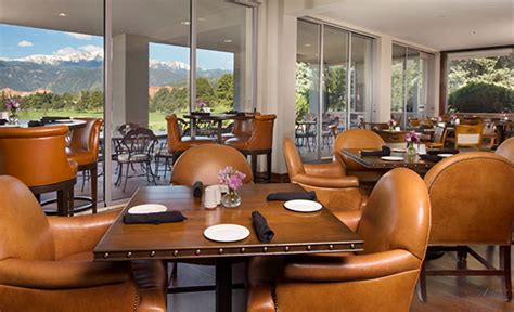Garden Of The Gods Restaurant Garden Of The Gods Club And Resort Luxury Colorado