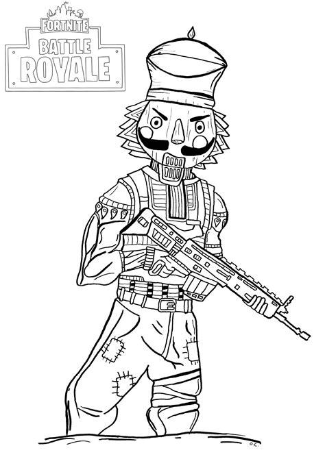Coloring Page Fortnite by Fortnite Battle Royale Crackshot Fortnite Battle