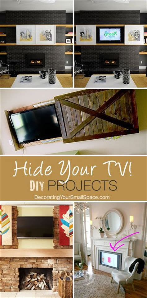 hide your tv diy projects pinterest headboard ideas diy and crafts and house