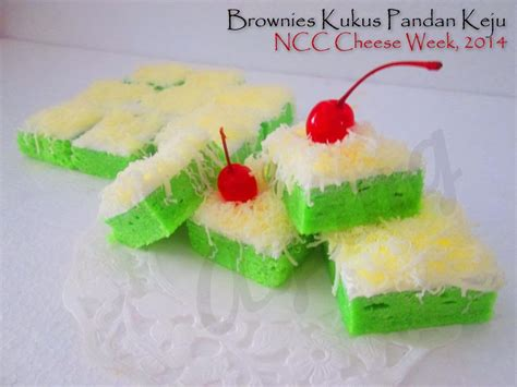 Brownies Kukus Pandan Keju brownies kukus pandan keju by ayang ncc cheese culinary weeks