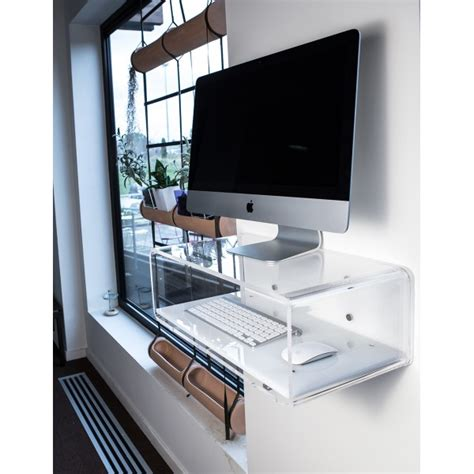 mensola porta pc consolle porta pc per imac 21 quot da parete in plexiglass