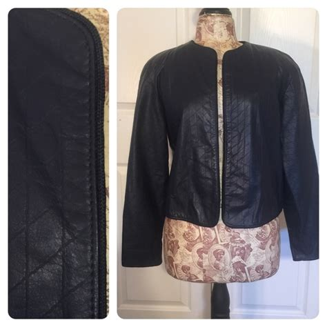 design lab leather jacket 89 off lord taylor jackets blazers lord taylor