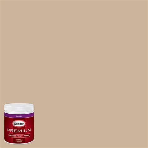 glidden premium 8 oz hdgo58u chagne mimosa eggshell interior paint with primer tester
