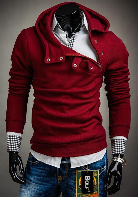polish maroon bolf hoodie  men