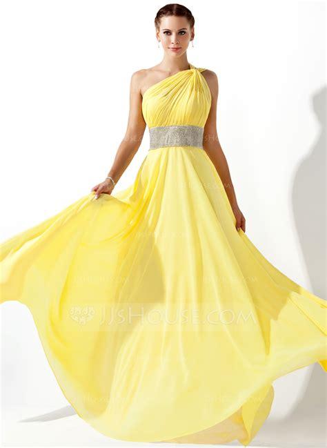 a line princess prom dresses a line princess one shoulder floor length chiffon prom