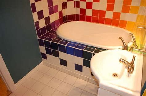 rainbow bathrooms rainbow tiles for vivid unconventional bathrooms