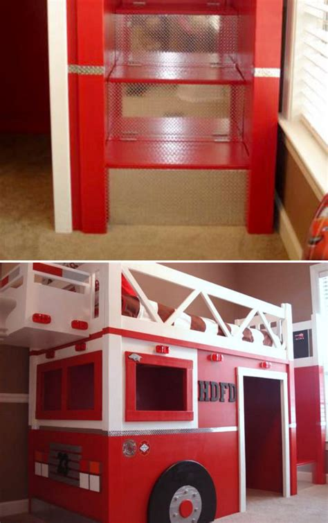fire truck bed with slide bedroom fire truck bunk bed for inspiring unique bed