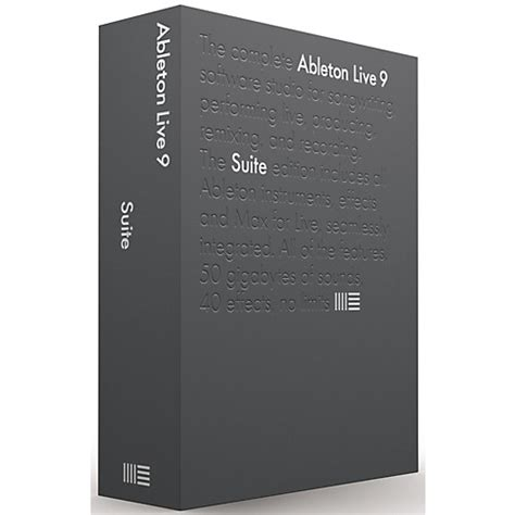 Ableton Live 9 Intro Original Software ableton live 9 7 suite upgrade from intro software musician s friend
