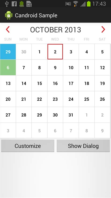 Add Calendar Event Android Add Event To Calendarview Stack Overflow