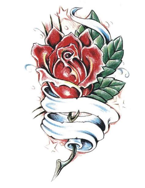 single rose tattoo 7 free design ideas