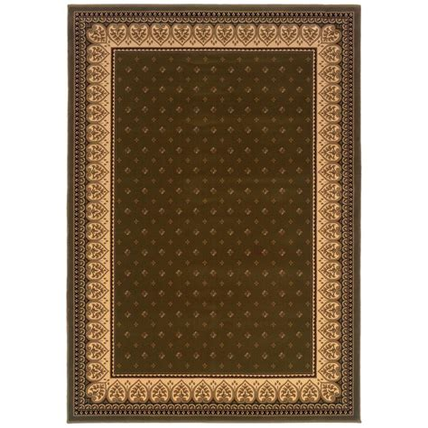 natco area rugs natco sapphire fleur de lis green 5 ft 3 in x 7 ft 7 in area rug 4338 31 60me the home depot