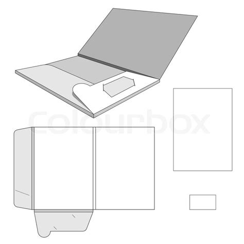 Folder Design Template Stock Vector Colourbox Folder Design Template Free