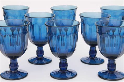 antique light blue glassware antique blue colored glass water goblets wine glasses