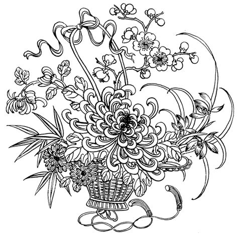 adult coloring pages flowers to download and print for free