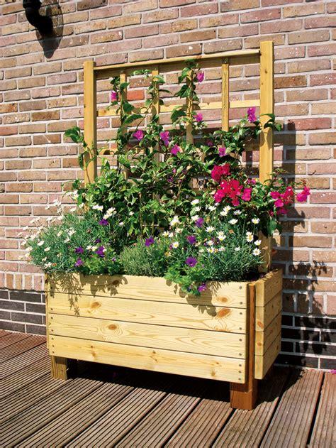Bac à Fleurs Avec Treillis by Bac A Fleur Avec Treillis Pas Cher