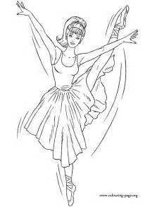 coloring pages barbie dressed beautiful ballerina enjoy colouring