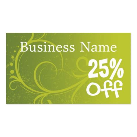discount coupon retail template business cards zazzle