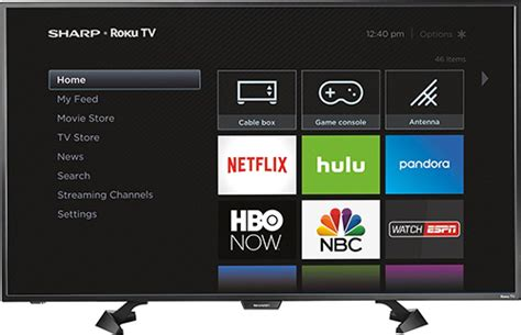 Tv Sharp Led 43 sharp 43 quot class 42 5 quot diag led 1080p smart hdtv roku tv black lc 43lb481u best buy