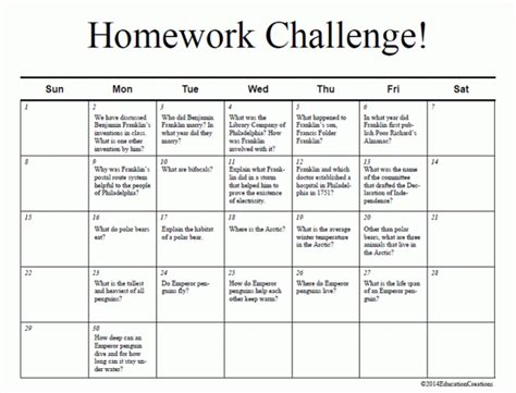 9 Homework Calendar Templates Excel Templates Homework Calendar Template Printable