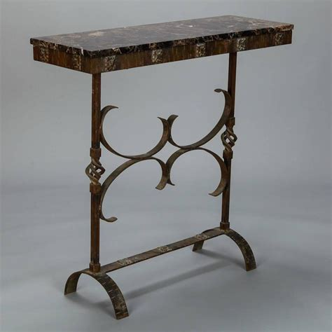sofa dauerschläfer deco fer forge console with marble top at 1stdibs