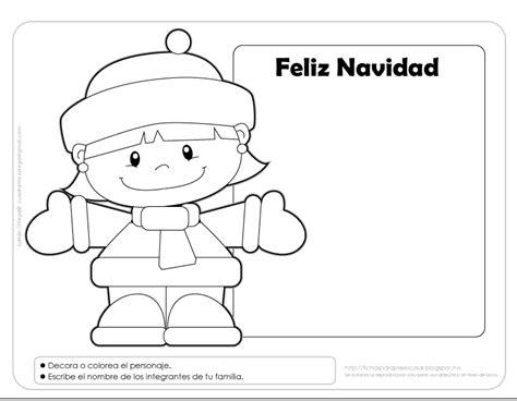 imagenes de navidad para colorear en preescolar fichas para preescolar una tarjeta para navidad