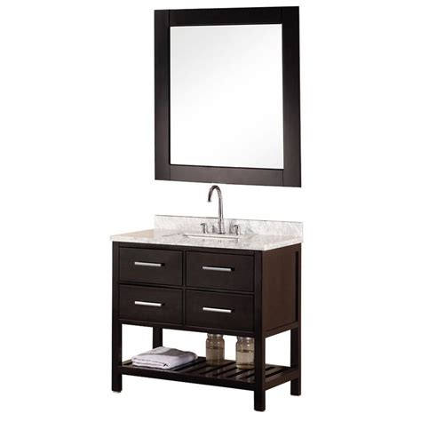 home depot design vanity design element mission 36 in w x 22 in d vanity in