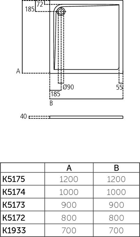 piatto doccia 120x120 dettagli prodotto k5175 piatto doccia in acrilico