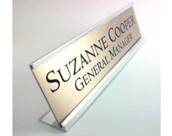 desk name plate holder personalized desk name plate nameplate silver with silver