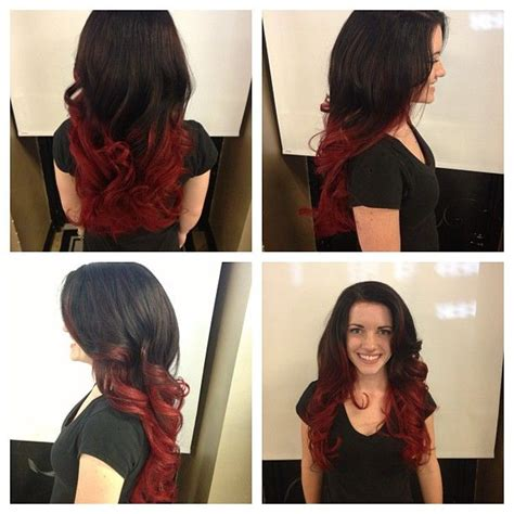 diy beauty from brown hair to bright red hair easy steps dark brown to bright red ombre brown to red ombre ombre