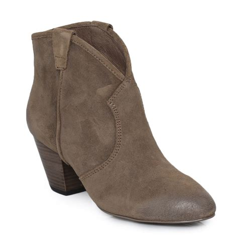ash jalouse topo brown suede womens ankle boots shoes size