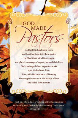 standard pastor bulletin god made pastors