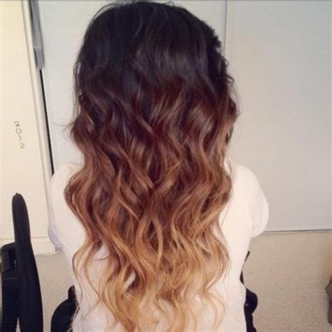 summer ombre for brunettes 2013 hair trends ombre waves brunette golden blonde