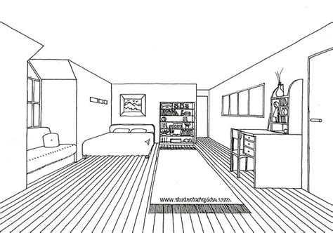 perspective drawing of bedroom free art teacher resources