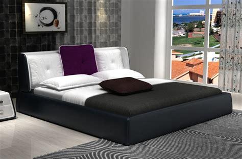 lit en cuir design italien