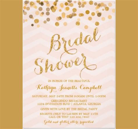 25 Bridal Shower Invitations Templates Psd Invitations Bridal Shower Invitation Template Free