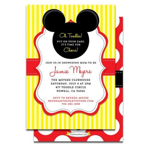 Baby Mickey Mouse Baby Shower Invitations Printable by Printable Mickey Mouse Baby Shower Invitation