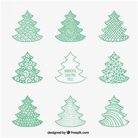 arbol de navidad dibujado 225 rboles de navidad verdes en estilo dibujado a mano