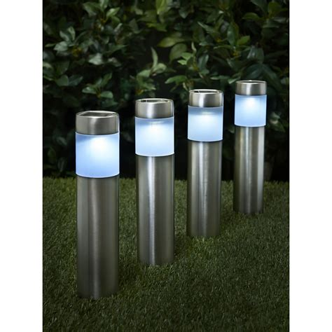 Wilko Garden Solar Lighting Posts 4pk At Wilko Com L Post Solar Lights Outdoor