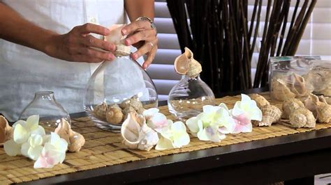 decorating objects with seashells decorations for the