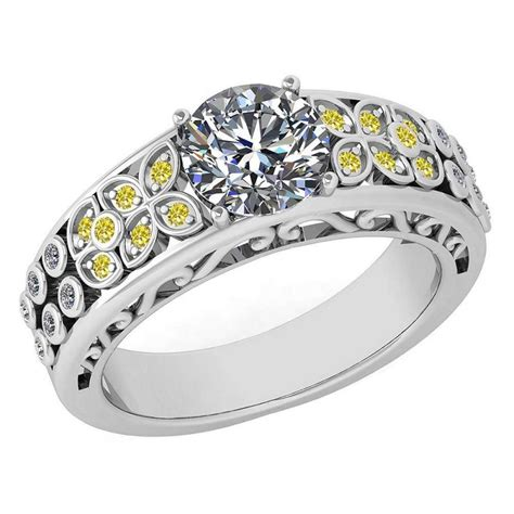 certified 1 57 ctw treated fancy yellow diamond and white g